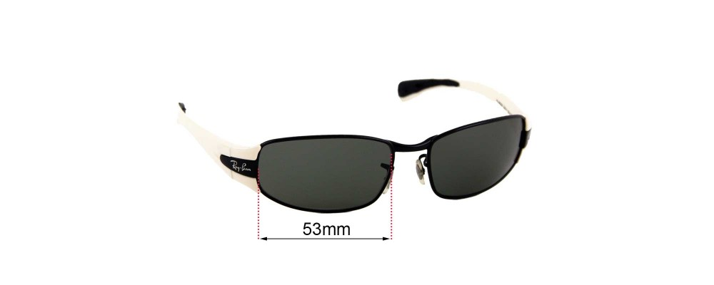Ray Ban RJ9522S Replacement Sunglass Lenses - 53mm wide