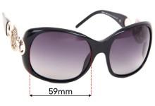 Sunglass Fix Replacement Lenses for Roberto Cavalli Rubino 446S - 59mm wide