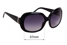 Salvatore Ferragamo 2201 Replacement Sunglass Lenses - 57mm wide
