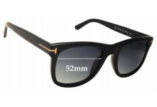 Tom Ford Jared TF0336 Replacement Sunglass Lenses - 52mm Wide