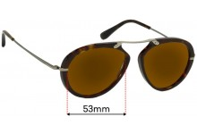 Tom Ford Aaron TF473  Replacement Sunglass Lenses - 53mm Wide
