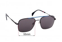 Sunglass Fix Replacement Lenses for Tommy Hilfiger TH Sun Rx 40 - 55mm wide