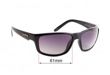 Ugly Fish Xenon PN 3252 Replacement Sunglass Lenses - 61mm wide