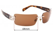 Versace MOD 2010-B Replacement Sunglass Lenses - 64mm Wide