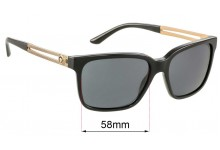 Sunglass Fix Replacement Lenses for Versace VE 4307 - 58mm wide