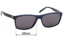 Sunglass Fix Replacement Lenses for Alex Perry AP Sun Rx 06 - 58mm Wide