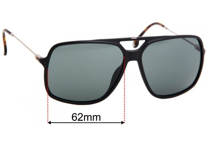 64mm Fuse Lenses Polarized Replacement Lenses for Carrera Hot-S