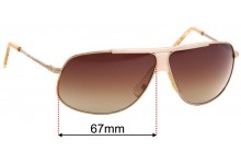 Costume National CN 14S Replacement Sunglass Lenses - 67mm Wide