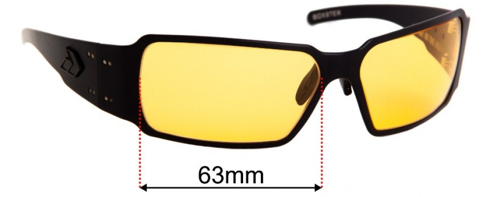 Sunglass Fix Replacement Lenses for Gatorz Boxster - 63mm wide
