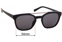 Nautica N3638SP Replacement Sunglass Lenses - 54mm Wide