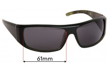 Sunglass Fix Replacement Lenses for PolarOne Proxima PX-3007 - 61mm wide