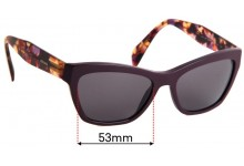 Sunglass Fix Replacement Lenses for Prada VPR14Q - 53mm wide