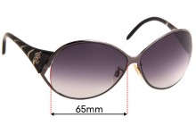 Roberto Cavalli Ore 333S Replacement Sunglass Lenses - 65mm wide
