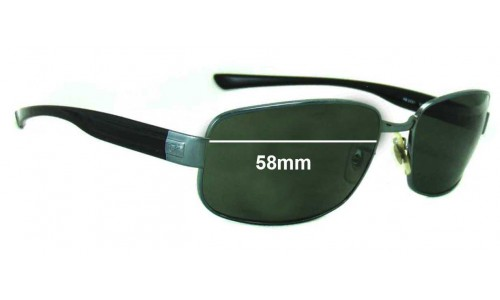 Sunglass Fix Replacement Lenses for Ray Ban RB3331 - 58mm wide