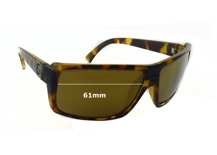 SFX Replacement Sunglass Lenses fits Von Zipper Cookie 59mm Wide