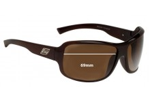 Dirty Dog Crackle Replacement Sunglass Lenses - 69mm wide