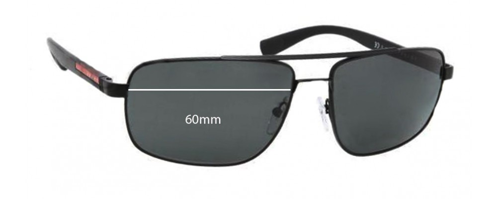 Prada SPS55N Replacement Sunglass Lenses - 60mm wide
