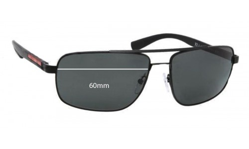 Sunglass Fix Replacement Lenses for Prada SPS55N - 60mm wide