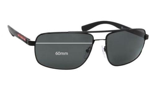 Prada SPS55N Replacement Sunglass Lenses - 60mm wide