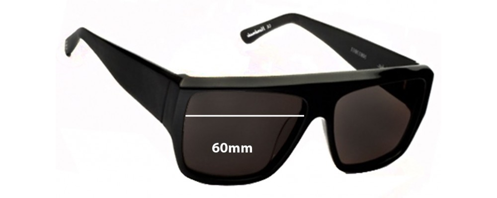 Ksubi Skat Replacement Sunglass Lenses - 60mm wide