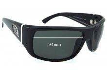 Dirty Dog Stumble Replacement Sunglass Lenses - 64mm wide
