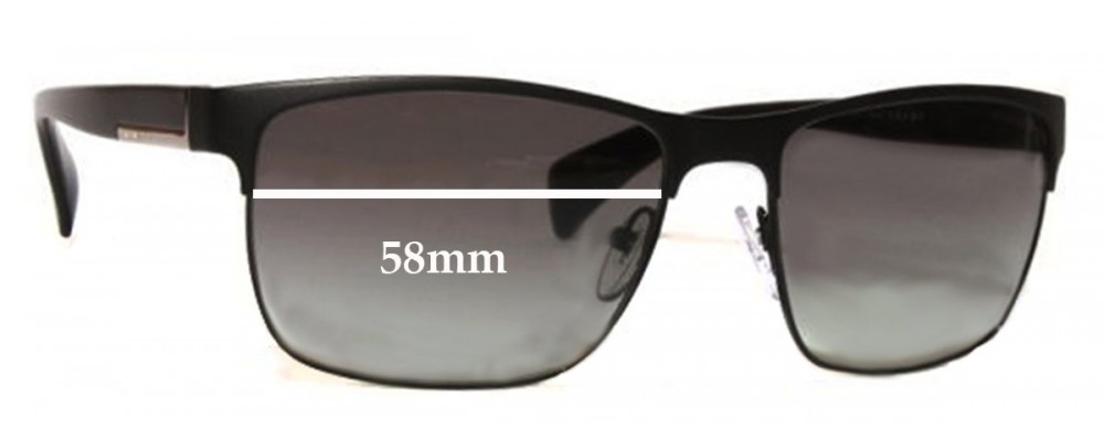 Prada SPR51O Replacement Sunglass Lenses - 58mm Wide