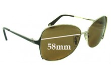 Coach S1002 Replacement Sunglass Lenses 58mm wide