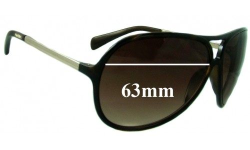 Prada SPR06N Replacement Sunglass Lenses - 63mm wide lens