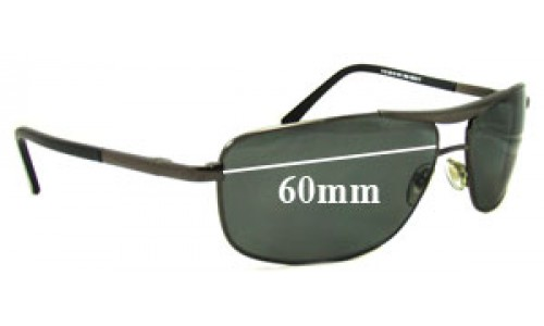 Ray Ban RB8019 Replacement Sunglass Lenses - 59-60mm wide