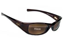 Maui Jim MJ105 Shaka Replacement Sunglass Lenses - 55mm Wide