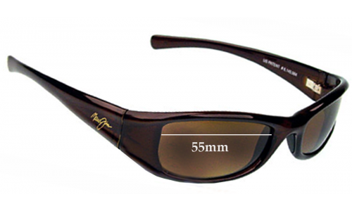 Maui Jim MJ105 Shaka Replacement Sunglass Lenses - 55mm Wide