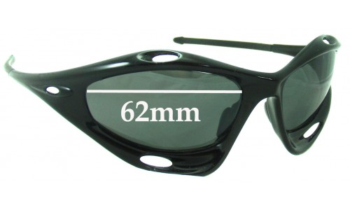 Oakley Water Jacket Generation 2 Replacement Sunglass Lenses - Non Vented Lenses - Around 2006+ - 62mm Wide