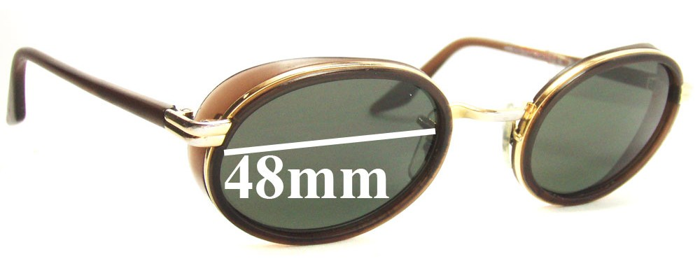 Sunglass Fix Replacement Lenses for Ray Ban W2314 Bausch Lomb - 48mm across