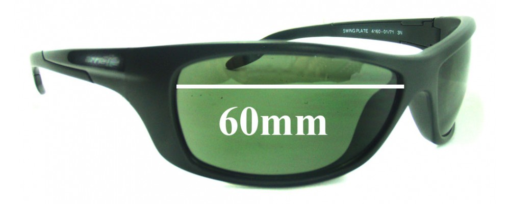 Arnette Swing Plate AN4160 Replacement Sunglass Lenses - 60mm wide
