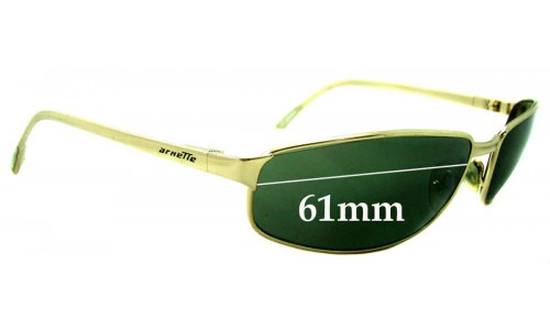 Sunglass Fix Replacement Lenses for Arnette Steel Demon AN3001 - 61mm Wide