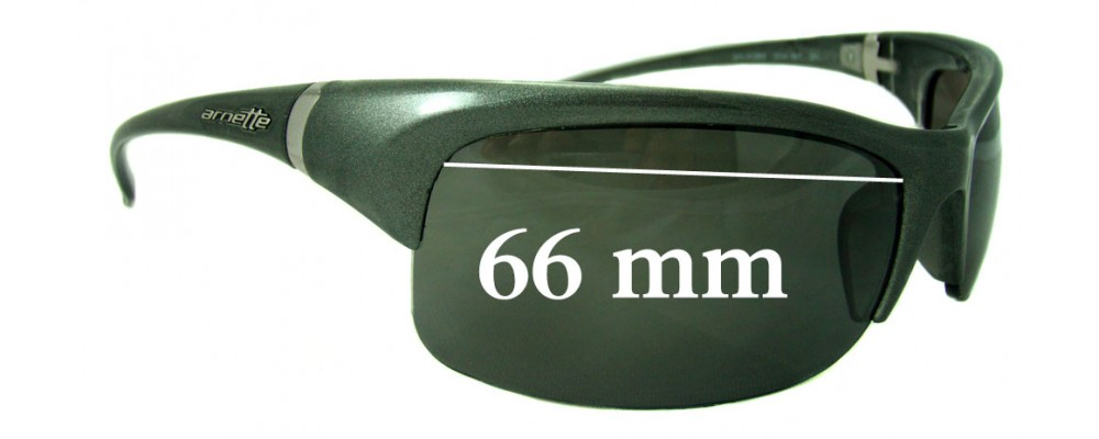 Arnette AN4089 Replacement Sunglass Lenses - 66mm Wide