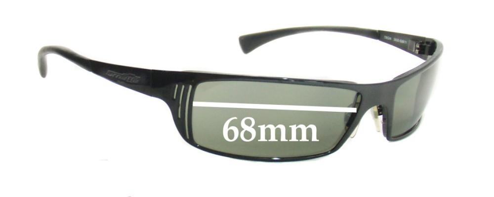 Arnette TRON AN3032  Replacement Sunglass Lenses - 68mm Wide Lens