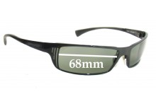 Arnette TRON AN3032  Replacement Sunglass Lenses - 68mm Wide Lens