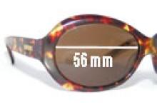 Bill Blass Dean Replacement Sunglass Lenses - 56mm wide