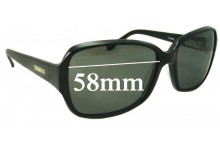 Bill Bass Jessie Replacement Sunglass Lenses - 58mm wide
