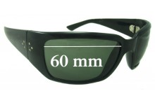 Sunglass Fix New Replacement Lenses for Blinde Unknown Model - 60mm Wide