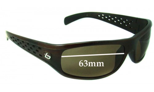 Bolle Satellite Fusion Replacement Sunglass Lenses 63mm wide