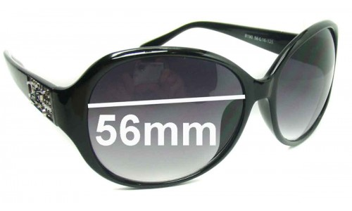 Burberry 8090 Replacement Sunglass Lenses - 56mm Wide
