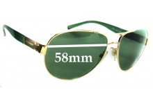 Burberry B 3022 Replacement Sunglass Lenses - 58mm Wide