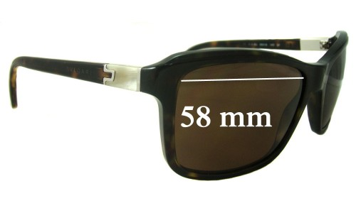 Bvlgari 7011 Replacement Sunglass Lenses 58mm wide