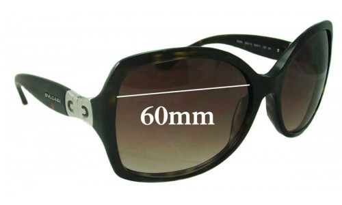 Bvlgari 8065 Sunglass Replacement Lenses 60mm wide