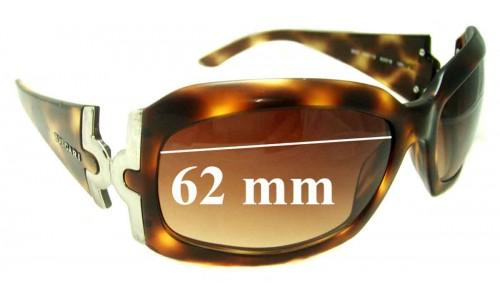Bvlgari 860 Replacement Sunglass Lenses 62mm wide