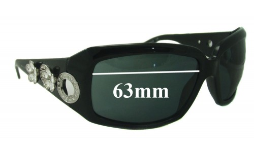 Bvlgari 857 Replacement Sunglass Lenses 63mm wide