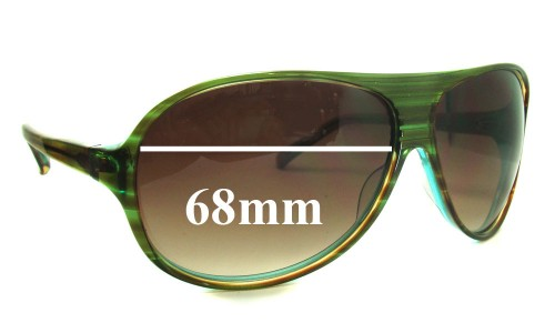 Christian Roth CR14274 Replacement Sunglass Lenses - 68mm Wide