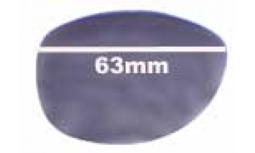 Chanel 5116Q Replacement Sunglass Lenses - 63mm wide